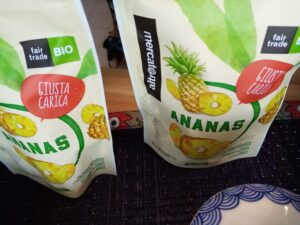 Ananas essiccato biologico equo solidale spesa domicilio
